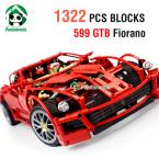 Super Large Building Blocks Set 1322 Pcs Decool 1:10 Racing Car Scale Bricks Car Styling Model Building Kits Children's Toys