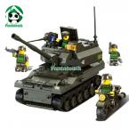 Building Blocks in Original Box 258 pcs Tank  DIY Block Compatible with Lego  / Army / Toy for Boy / Educational Bricks Toys