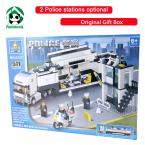 In Original Box Building Blocks Compatible with lego / Police Station truck Car & Motorcycle Boat / Toy brinquedos