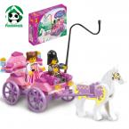 Building Blocks Compatible with Lego Friends Series Princess Carriage Action Figure Brinquedos Learning Education Toys