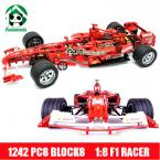 Super Large 24 inch Building Blocks 1242 Pcs Decool 1: 8 Famous Racing Car Scale Models / Compatible with lego Model building