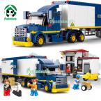 Building Blocks Compatible with lego 537 pcs city Truck with action figure Educational Bricks Toys / learning education Toys