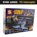 Star Wars TIE Interceptor Blocks Compatible with Lego Star Wars  Model Building Kits Bricks Educational Toys Model Building Kits