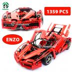 Super Large ENZO Car Building Blocks Set  1359 Pcs Scale Models Bricks Models Building Toys Hobbies