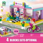 2015 New Building Blocks Compatible with lego Friends 4 Models Optional Brinquedos Bricks Collection for Girl Educational Toys