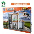 Building Blocks City  Rescue 450 Pcs Compatible with lego Helicopter  / Educational Bricks Toys/ Learning Education brinquedos