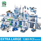 Extra Large Police Station 1285 Pcs Blocks Compatible with lego City  Educational Toys for Kids Toys Hobbies