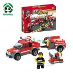 Original Box Building Blocks Compatible with lego Fire Truck Set  / learning & Education toys / brinquedos educativos