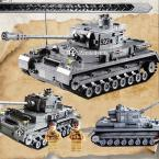Panzer IV F2 Tank 1193pcs Building Blocks Compatible with lego Educational Bricks Toys Models & Building Toys