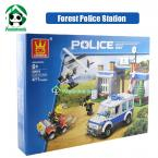 Building Blocks Compatible with lego 411 pcs Forest Police Station / learning & Education Toys / Brinquedos scale models