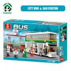 Building Plastic Blocks compatible with lego 403 pcs City Bus / double-decker Bus  / Learning & Education toys / toy gift