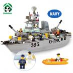 Super Large Building Blocks Set Compatible with lego / Navy Destroyer Boat / Educational Bricks Toys/ Learning Education