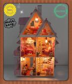 Assembling DIY Miniature Model Kit Wooden Doll House, Unique Big Size House Toy With Furnitures for Christmas Gift
