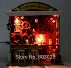 Scale Model Building DIY  House -- Captain Bar With Miniature Dollhouse Furniture,Assembling House Toy For Kids