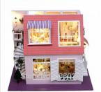Assembly Model Scale DIY House -- Bay of Angels With Music & Lights, Wooden Miniature Dollhouse Toy