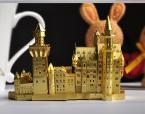 Fashion DIY 3D Neuschwanstein Castle Puzzle Metal 3DJigsaw Puzzle Model ,New Metal  Puzzle Building Kids Toy Gift