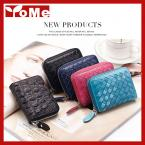 2015 New Knitting Pattern Small Men&Women's 100% Genuine Leather Zipper Wallet Expandable Credit Card ID Holder Coin Bag,CL-2149