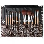 Professional Makeup kits 12 PCs Brush Cosmetic Facial Make Up Set tools With Leopard Bag makeup brush tools hot sales
