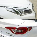 Accessories FIT FOR 2015 2016 HYUNDAI SONATA LF CHROME FRONT REAR HEADLIGHT TAIL LIGHT LAMP COVER TRIM MOLDING
