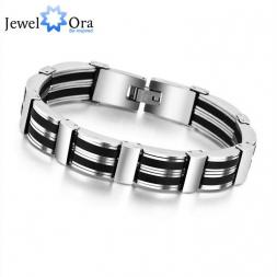 20cm 304 Stainless Steel Bracelets For Men New 2015 Fashion Punk  Bracelets & Bangles Jewelry (JewelOra BA101256)