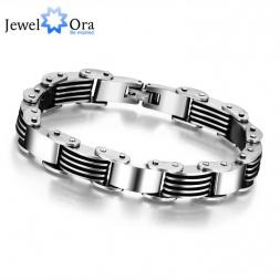 2015 Fashion 235mm Stainless Steel Bracelets & Bangles  Men Punk Jewelry (JewelOra BA101252)