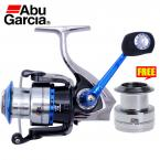 New Arrival Abu Garcia Brand Revo Inshore 4000 Spinning Fishing Reel Saltwater 8BB 5.8:1 Carbon Drag Fish Wheel with Spare Spool