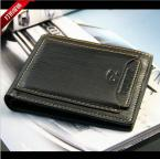 Special promotion  Mens genuine Leather Wallet Pockets Card Clutch Cente Bifold Purse With a gift box wholesale