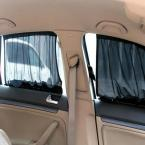 70*48CM Car Curtain Anti UV Sunscreen Net Cloth Shade Car Sun Shade UV Protection Side Window Curtain Suction Cup LA-2208
