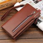 New 2015 Men's wallet Casual wallet men purse Clutch bag long design men bag carteira  Brand Pu leather wallet gift for men 2202