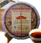 pu01 Promotion 200g 5 years old Pu'er ripe tea cake super eco-cooked puer tea tree pure material Menghai plant origin