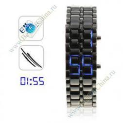 Наручные светодиодные часы-браслет из нержавеющей стали