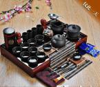 Tea set yixing tea ceramic kung fu tea set solid wood tea tray tea set TS07
