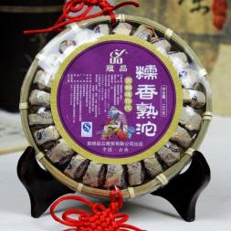 Chinese yunnan Puerh tea puer tea Handmade gift tea Glutinous rice cooked PU er cooked tea mini tuo tea