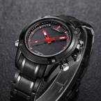 Naviforce календарная 2016 мужские часы лучший бренд класса люкс кварцевые часы цифровой - аналоговый спорт военная часы часы водонепроницаемый Montre Homme 9050