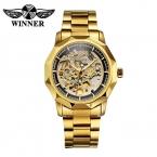 Победитель бизнес скелет автоматические механические часы мужчины люксовый бренд 2016 золотые часы для мужчин часы наручные часы Relogio Masculino