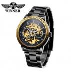 Победитель люксовый бренд часы мужчины скелет автоматическая мужские часы механические часы для мужчин часы золотые военная Relogio Masculino