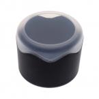 Мода наручные хранения чехол круглый пластиковый один коробка вахты чехол с губкой подушки часы аксессуары