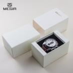 Оригинальный MEGIR часы Box высокий крепкий часы чехол элегантной подарочной коробке многофункциональный хранения коробка для часов
