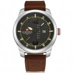 2016 люксовый бренд NAVIFORCE календарная дата кварцевые часы мужчины свободного покроя военные спортивные часы кожа наручные часы мужской Relogio Masculino