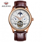 Мужские часы механические часы погружения 200 м шести-контактный турбийон часы кожа бизнес relojes хомбре 2016 лучший бренд класса люкс