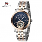 Горячая AILANG бренд турбийон автоматические механические мужские часы водонепроницаемые полный стали часы человек мода свободного покроя бизнес часы