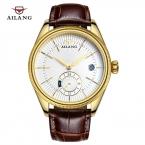 2016 AILANG мужские автоматические механические часы мужчины погружения 50 м мода свободного покроя наручные часы кожаный ремешок золотые часы лучший бренд класса люкс