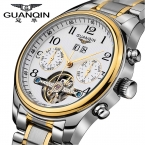 2016 часы мужчины люксовый бренд GUANQIN механические часы мода бизнес сапфир спорт свободного покроя наручные часы relogio masculino