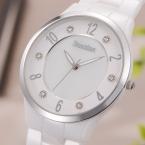 Bestdon элегантный белый любовника кварцевый часы мужчины и женщины пара керамика часы свободного покроя платье наручные часы подарок