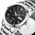 Kassaw бренд мужской полный нержавеющей стали военные часы кварцевые часы погружения бизнес wathces мужчины наручные часы relogio masculino