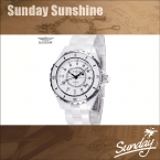 Kassaw марка женщины платье горный хрусталь белый часы женщины роскошь часы часы женщины relojes керамика наручные часы