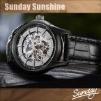 Kassaw марка началу скелет self-ветер часы выдолбите relogio masculino черная кожа автоматическая мужчины люксовый бренд наручных часов