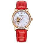 Kassaw 2016 механический скелет женские часы розового золота известный бренд конфеты цвета мода платье принцессы роскошные наручные часы