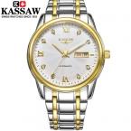 Kassaw человек наручные часы механические свободного покроя gentelman ежедневно из нержавеющей стали бизнес лучший бренд известный мода автоматические