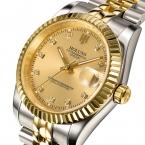 Holuns люксовый бренд классический мужчин полный стали часы автоматические механические self-ветер часы бизнес дизайнер платье наручные часы